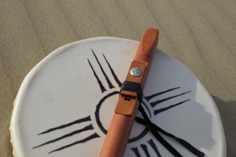 Key of F, Aromatic Cedar & Mahogany Native American Indian Flute By dg Hatch